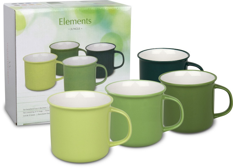 4er-Set Becher im Geschenkkarton - Elements - Jungle