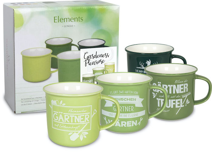 4er-Set Becher Gardeners Pleasure - Elements