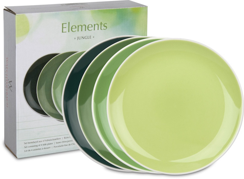 4er-Set Teller Ø 19 cm im Geschenkkarton - Elements - Jungle