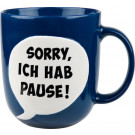 Henkelbecher 330 ml Sorry Pause blau